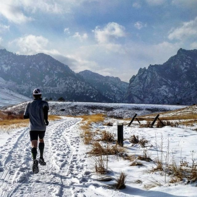 Snow Running - shoe traction like Yaktrax help keep you upright in the ice and snow.