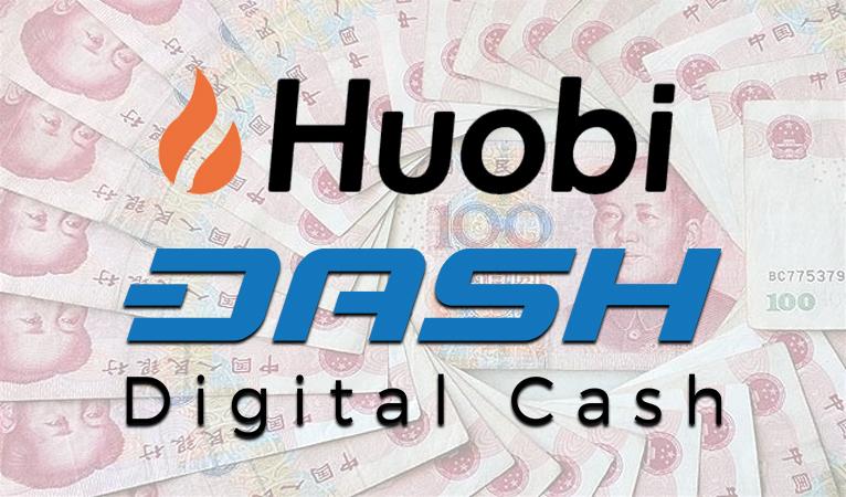 Биржа Huobi добавляет Dash