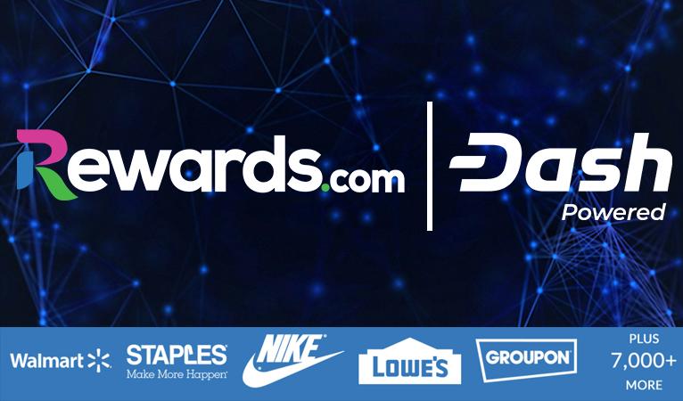 Über Rewards.com bei mehr als 7000 Händlern einkaufen und dabei Dash verdienen