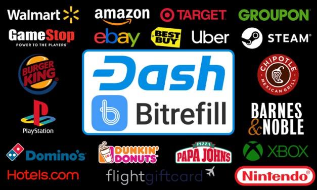 Bitrefill Adds Dozens New Vouchers, Makes Living on Dash Much Easier