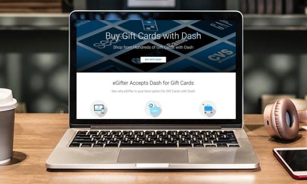 Сервис по продаже подарочных карт eGifter внедряет Dash