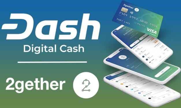App Bancário Colaborativo e Cartão de Débito 2gether Adiciona Dash
