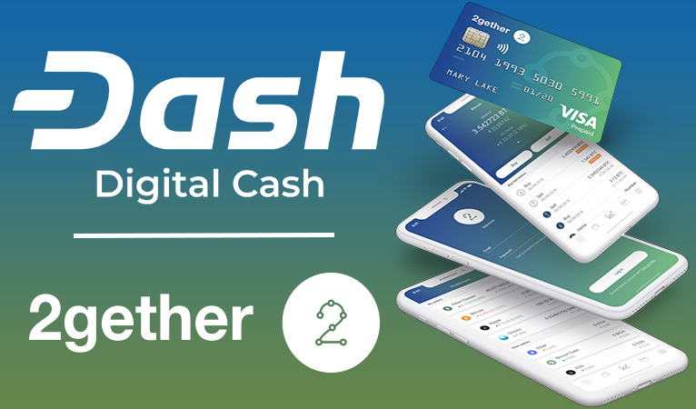 2gether integriert Dash in die Banking-App und Debitkarte