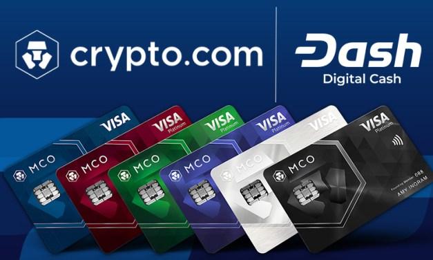 Die Plattform Crypto.com integriert Dash – Debitkarte, Giveaway und Kredite