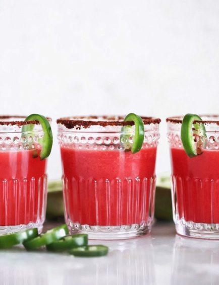 Spicy Watermelon Margaritas- Dash Of Mandi