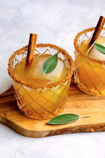 Honey Pear Sage Margaritas - Dash Of Mandi