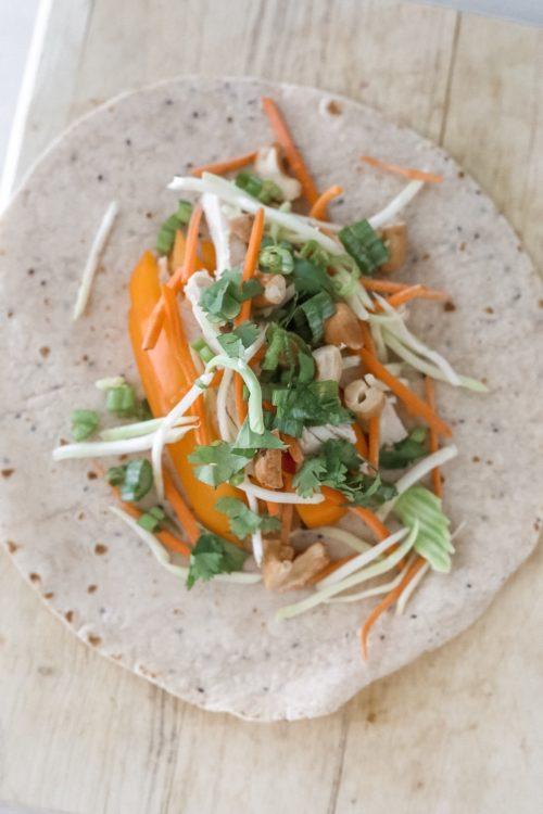 thai wrap meal prep