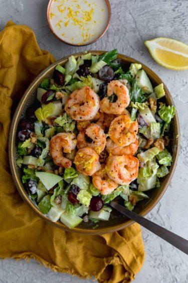 Shrimp Waldorf Salad - Dash Of Mandi