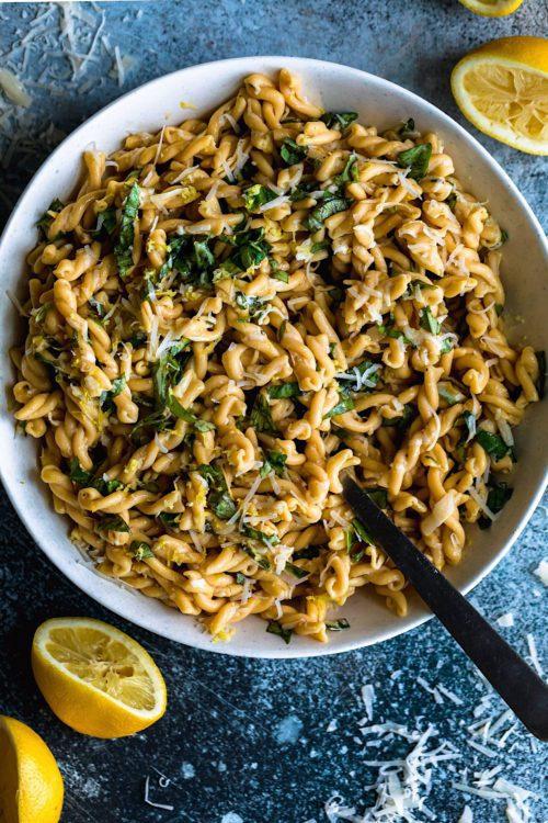 Lemon Basil Pasta Salad - Dash Of Mandi