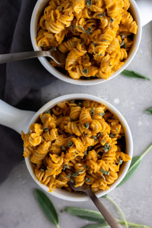Lightened Up Butternut Squash Mac & Cheese