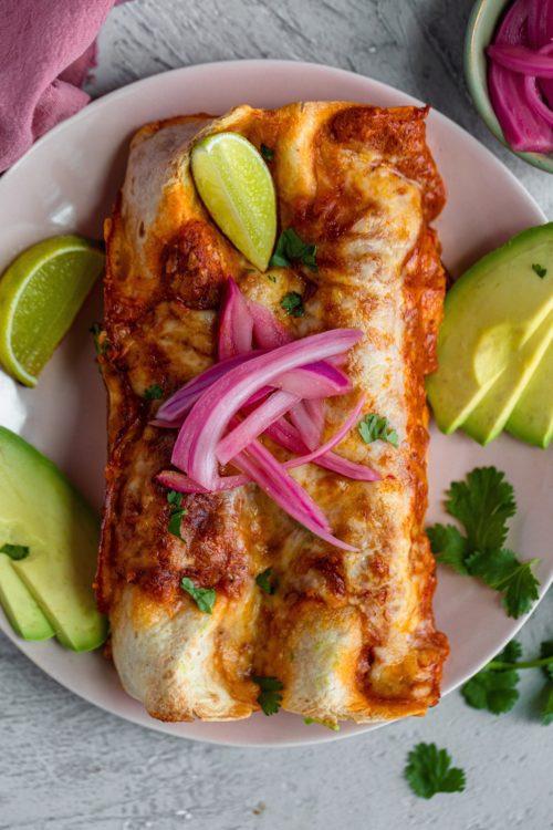 Creamy Harissa Chicken Enchiladas