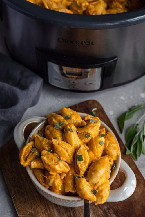 Crock-Pot Pumpkin Mac And Cheese