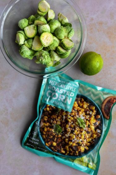 Trader Joe's Street Corn Brussels sprouts