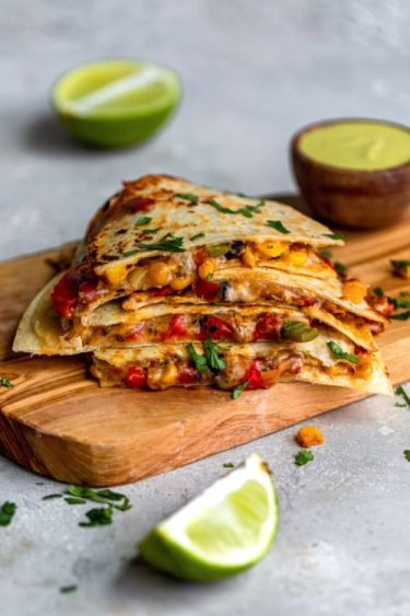 Easy Vegetarian Quesadilla - Dash Of Mandi