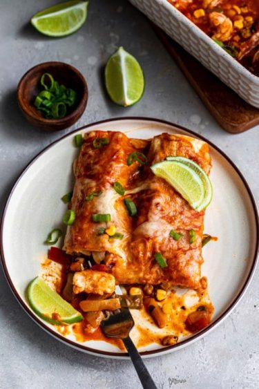 Easy Shrimp Enchilada Recipe - Dash Of Mandi