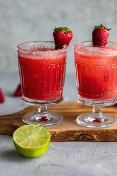 Strawberry Basil Margaritas - Dash Of Mandi