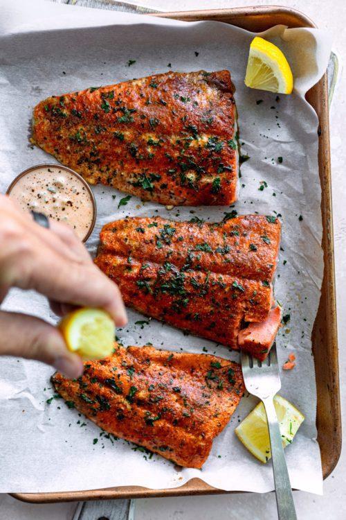 Smokey And Sweet Cajun Salmon