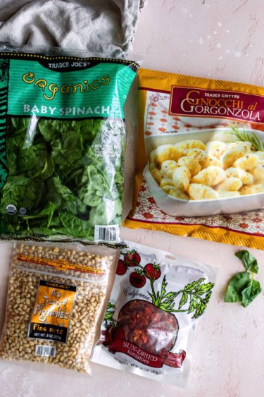 Gorgonzola Gnocchi Dish Using Trader Joe's Ingredients