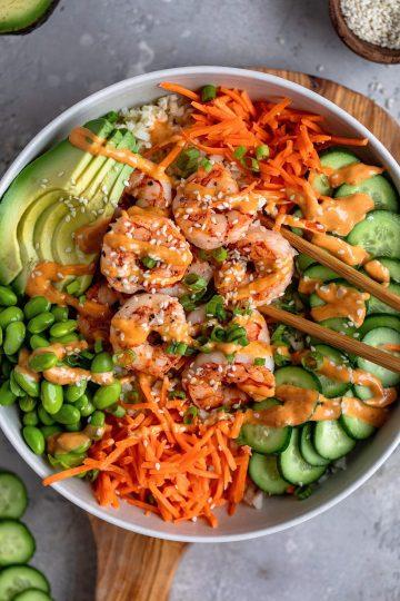 Shrimp Sushi Bowls
