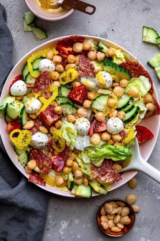 Italian Salad With Honey Mustard Dressing - Dash Of Mandi