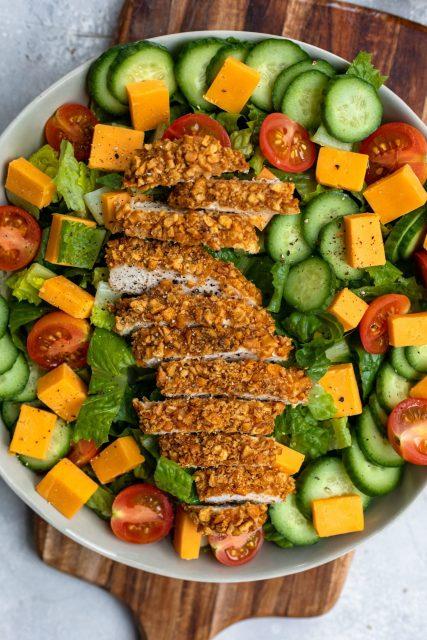 Pretzel chicken salad