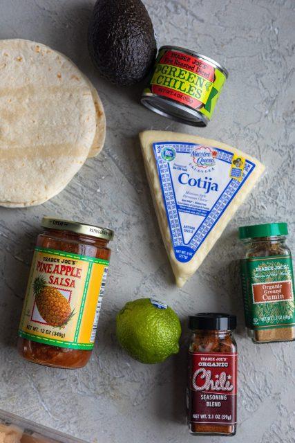 Pineapple salsa chicken taco ingredients