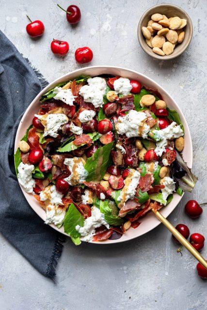 crispy prosciutto cherry & burrata salad