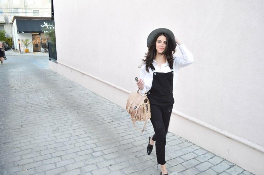 Black overalls - miami fashion blogger - LA Style