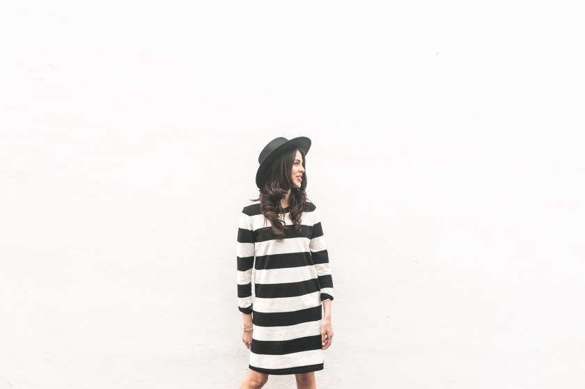 Miami Fashion blogger-stripe dress-Topshop