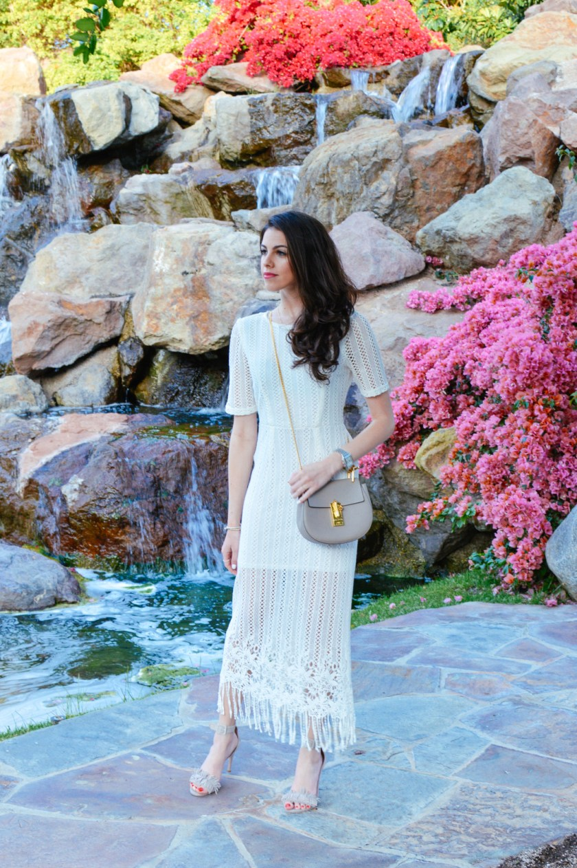 white crochet dress for spring