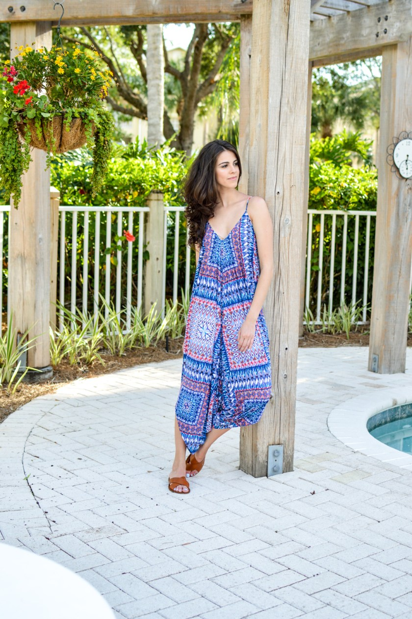 """Dash of Panache styling a Red Carter Swim """"Dream"""" Cover Up Jumpsuit"""
