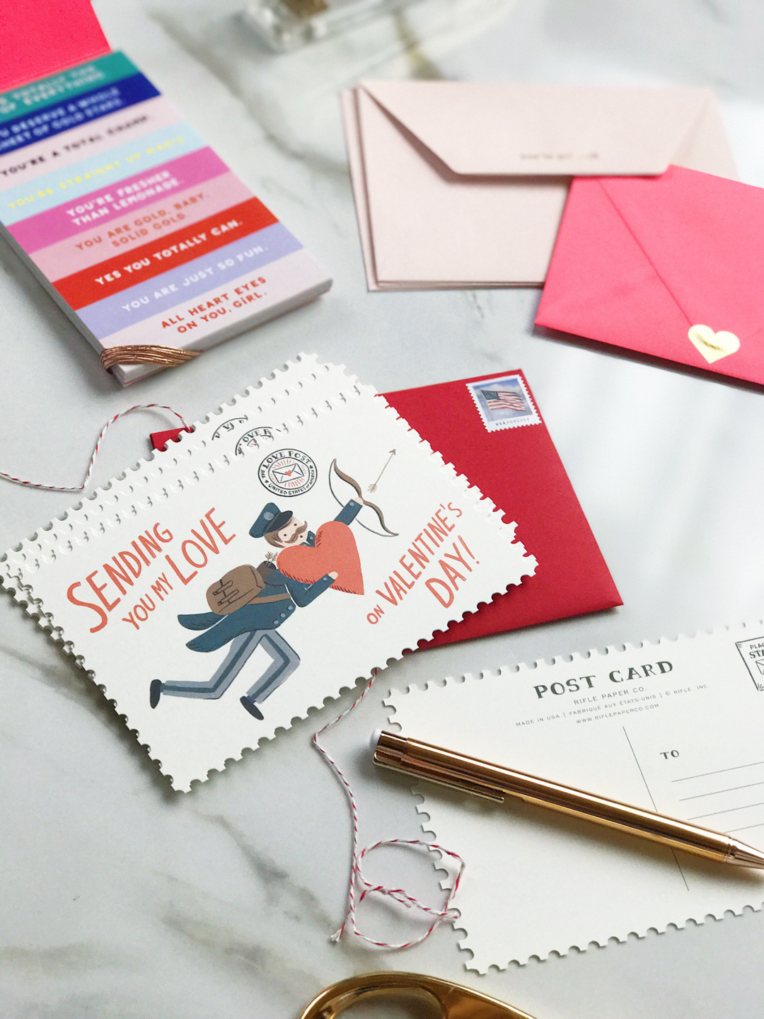 Rifle Paper Co Valentines day postcard