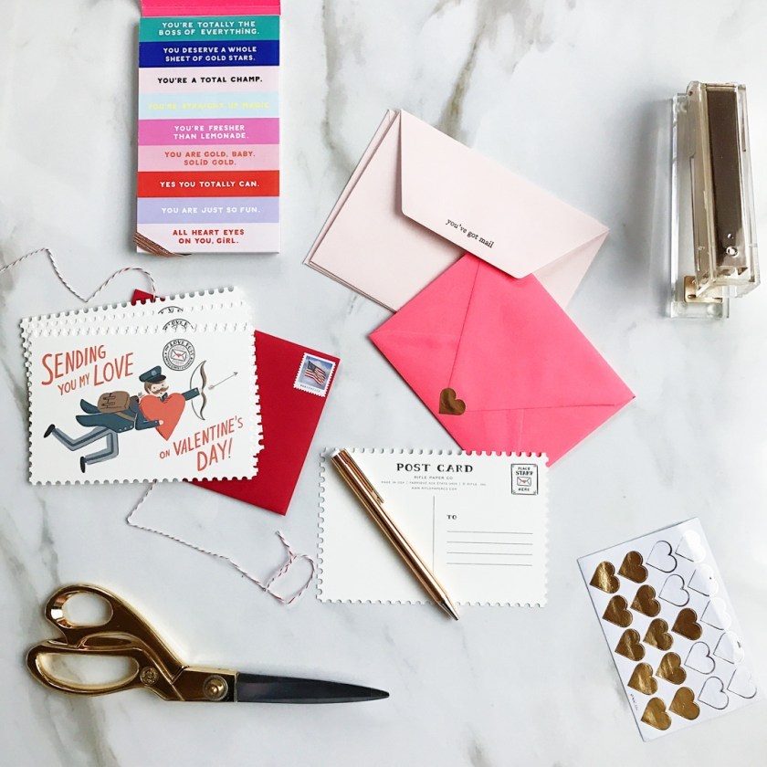 Valentines day Rifle Paper Co cards, postcards and snail mail.