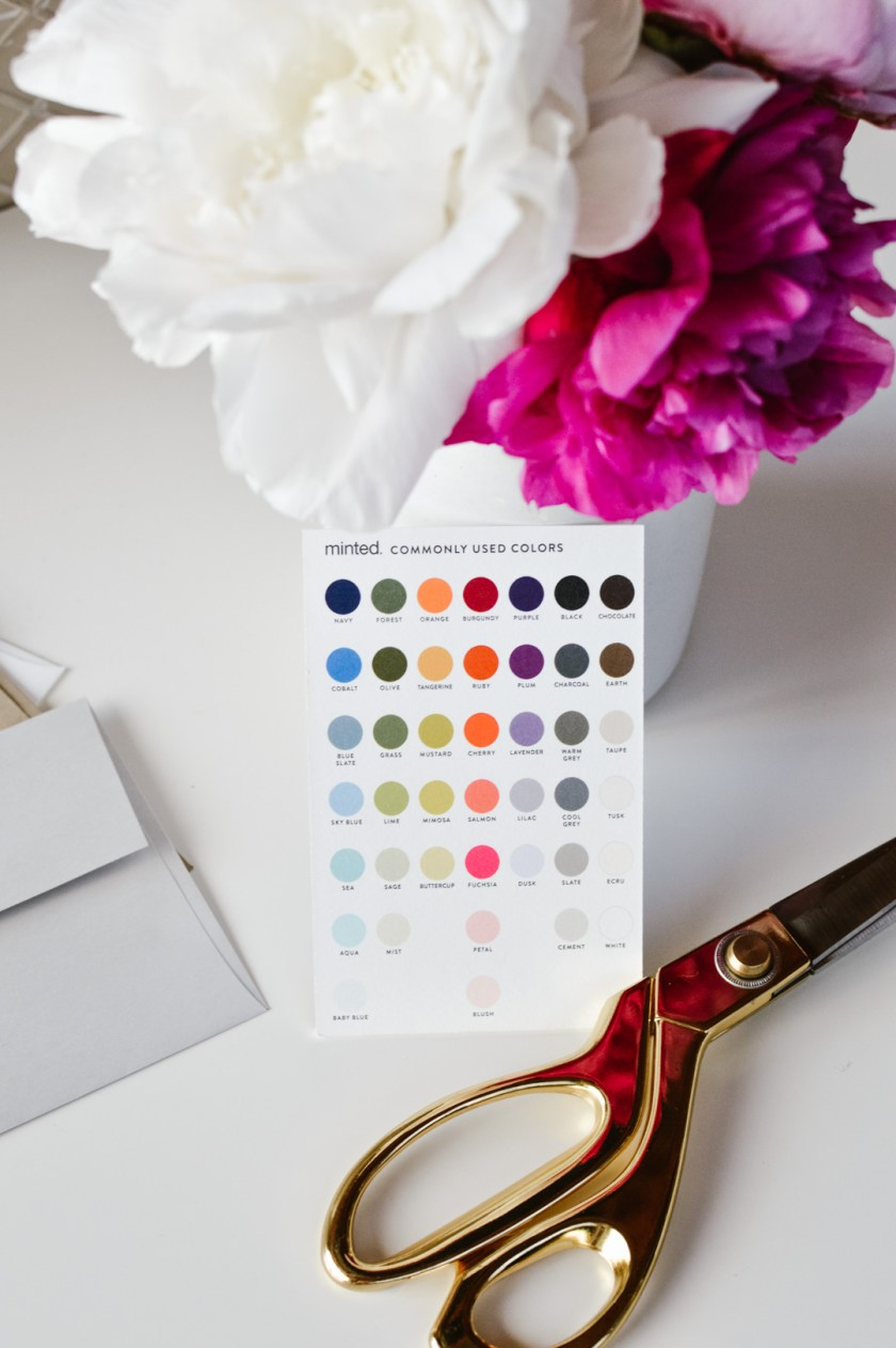 Minted color customizations
