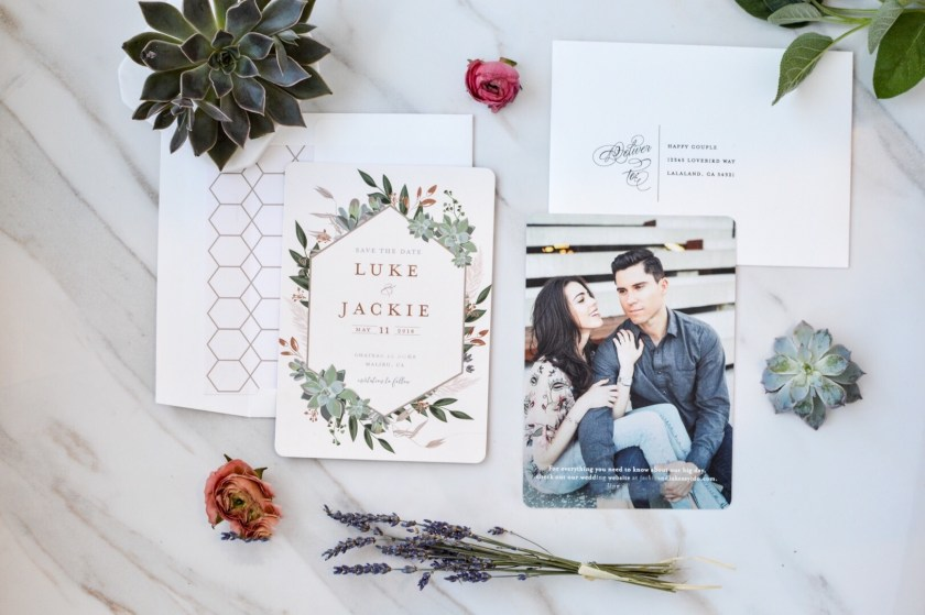 Save the date wedding invitation from Minted.