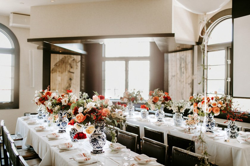 jackie roques spanish themed bridal shower in miami featuring ever after florlals and blue and white