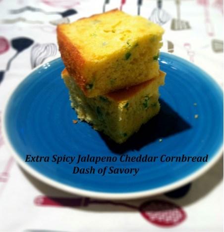 Extra Spicy Jalapeno Cheddar Cornbread | Dash of Savory