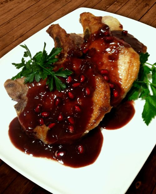 Pomegranate Pork Chops
