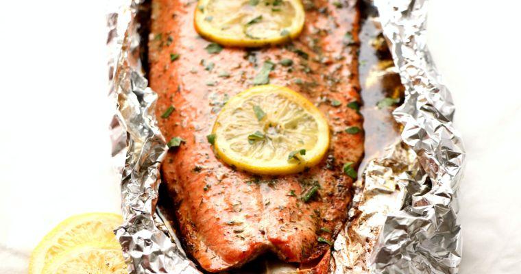 Grilled Dill Butter Alaskan Salmon