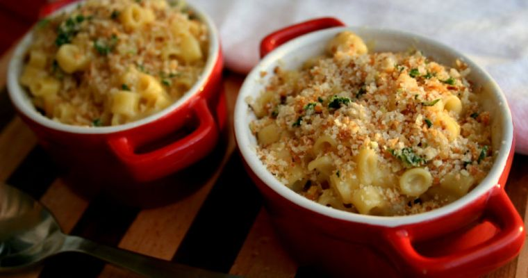 Smoked Gouda Mac and Cheese with Baked Chicken Tenders