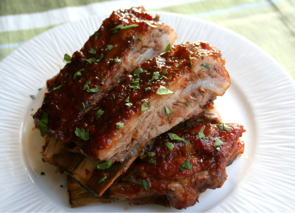 BBQ Red Pepper Jelly Spareribs | Dash of Savory