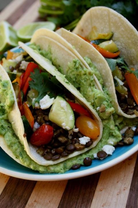 Loaded Lentil Tacos
