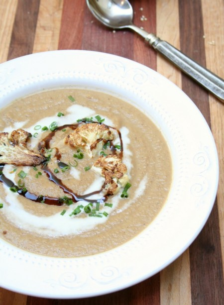 Roasted Cauliflower French Onion Soup