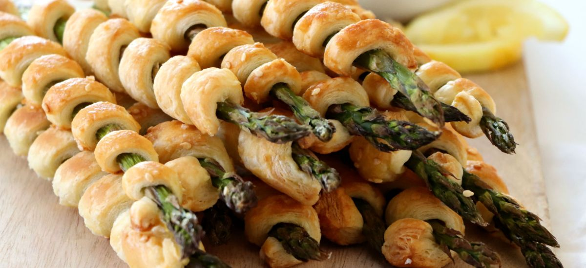 Puff Pastry Wrapped Asparagus