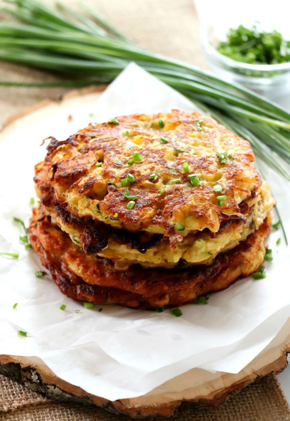 Sweet Corn and Zucchini Fritter Cakes