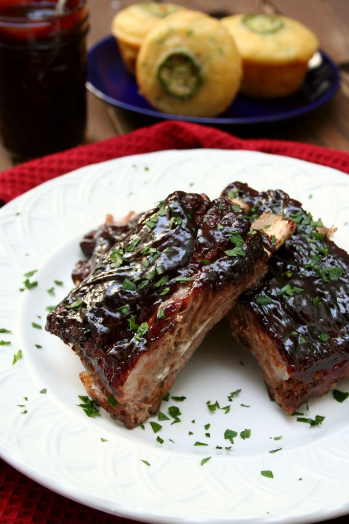 Chipotle Blackberry BBQ Glazed Spare Ribs