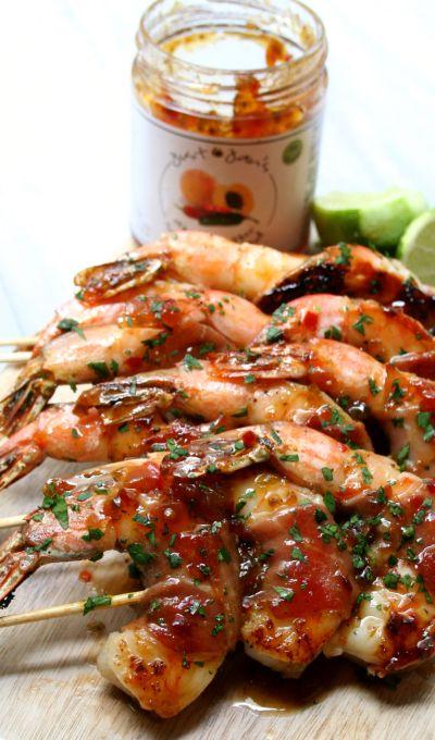 Prosciutto Wrapped Glazed Shrimp
