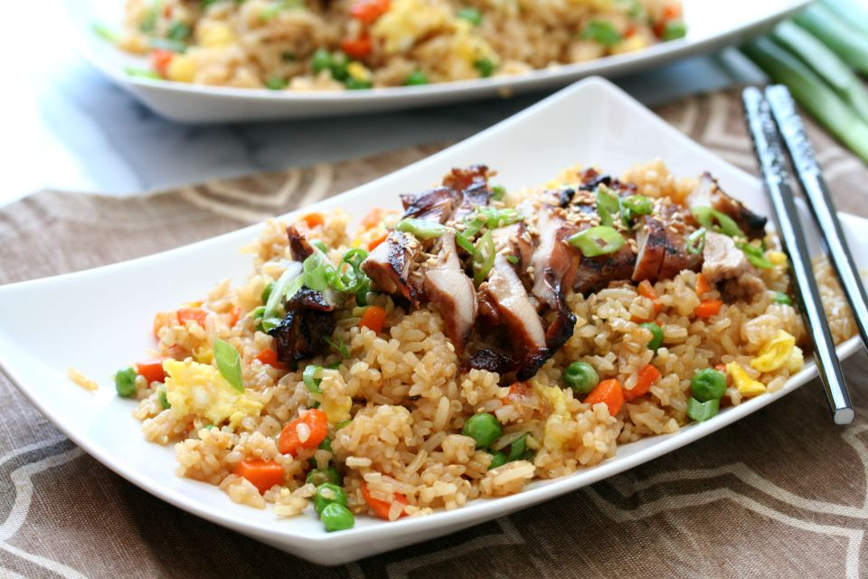 Grilled Chicken Fried Rice