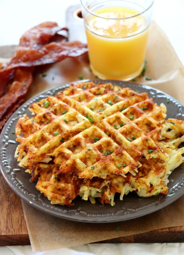 Cheesy Waffled Hash Browns
