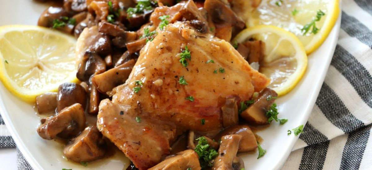 Chicken Thighs in Mushroom Sauce
